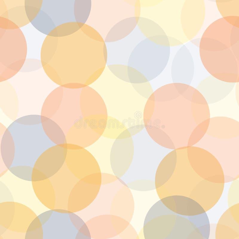 Abstrakcjonistyczni przejrzyści okręgi w warstwy bezszwowym wektorowym tle Nowożytny kropka wzór z różnymi nieprzezroczystość poz ilustracji