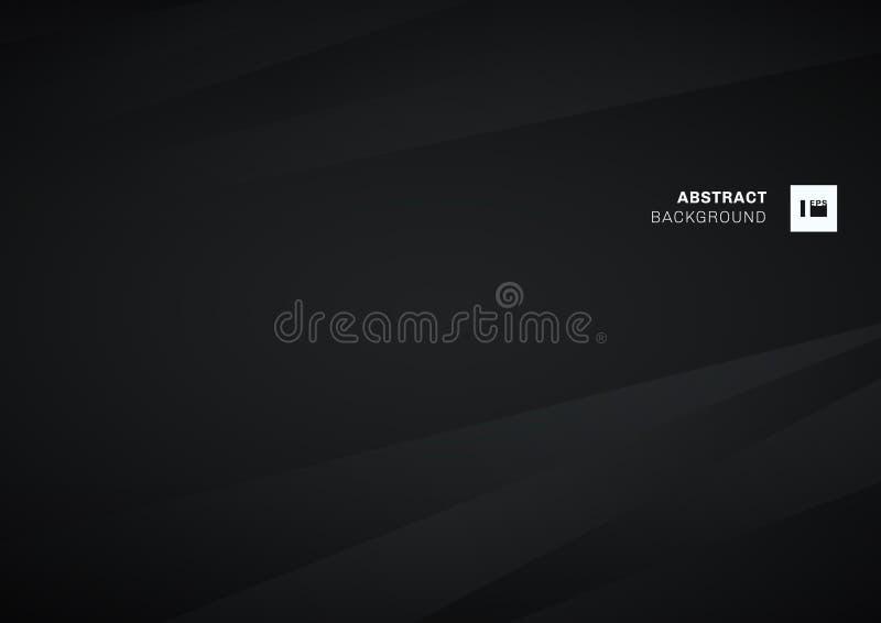 Abstrakcjonistyczni przekątna lampasy czarni i szary gradientowy koloru zmroku tło Papierowy fałdu zagniecenie Ty możesz używać d royalty ilustracja