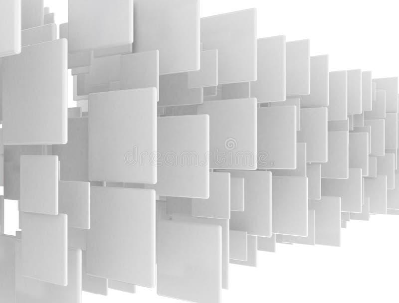 Abstrakcjonistyczni pustego miejsca 3d kwadraty ilustracja wektor