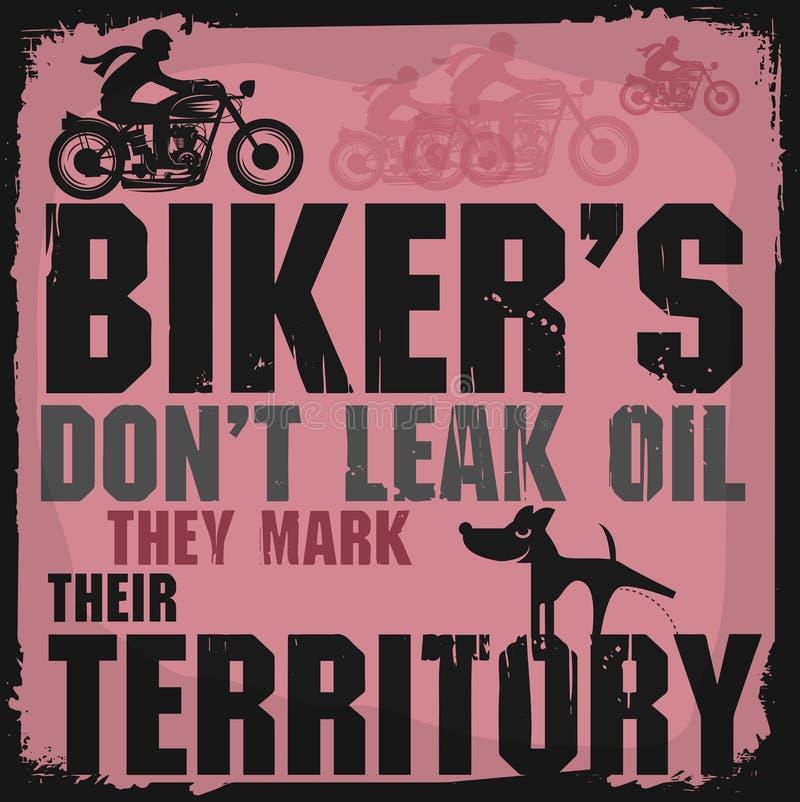 Abstrakcjonistyczni rowerzyści plakatowi ilustracji