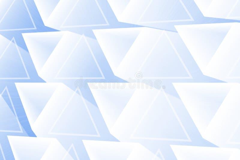 Abstrakcjonistyczni rozjarzeni trójboki ilustracja wektor