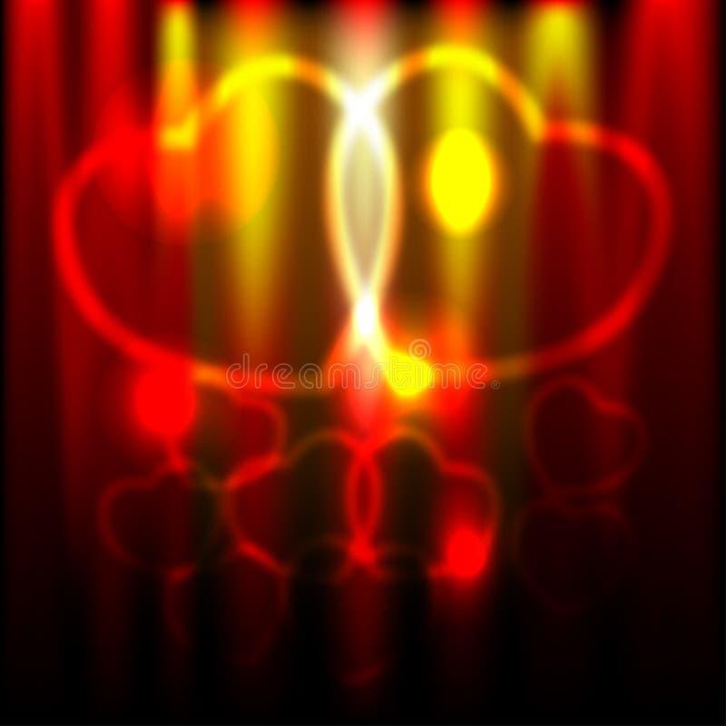 abstrakcjonistyczni serca zdjęcie stock
