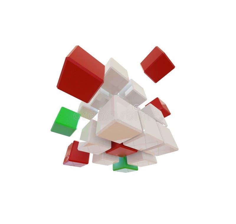 Abstrakcjonistyczni sześciany obraz stock