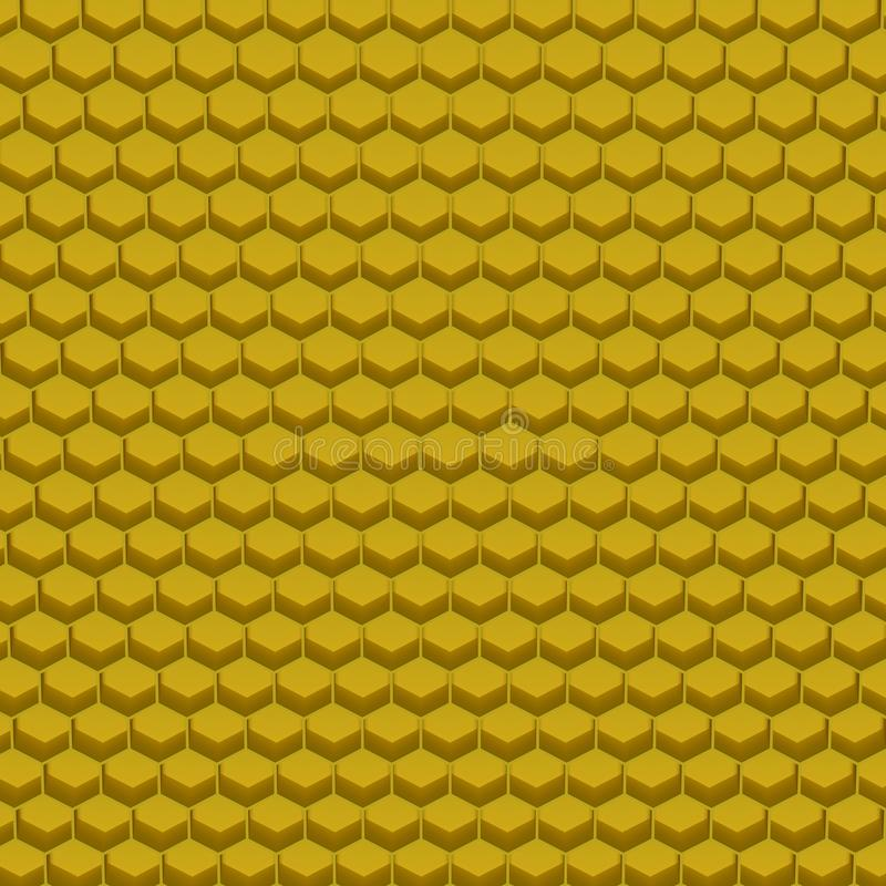 Abstrakcjonistyczni sześciokątów bloki, 3d rendering royalty ilustracja