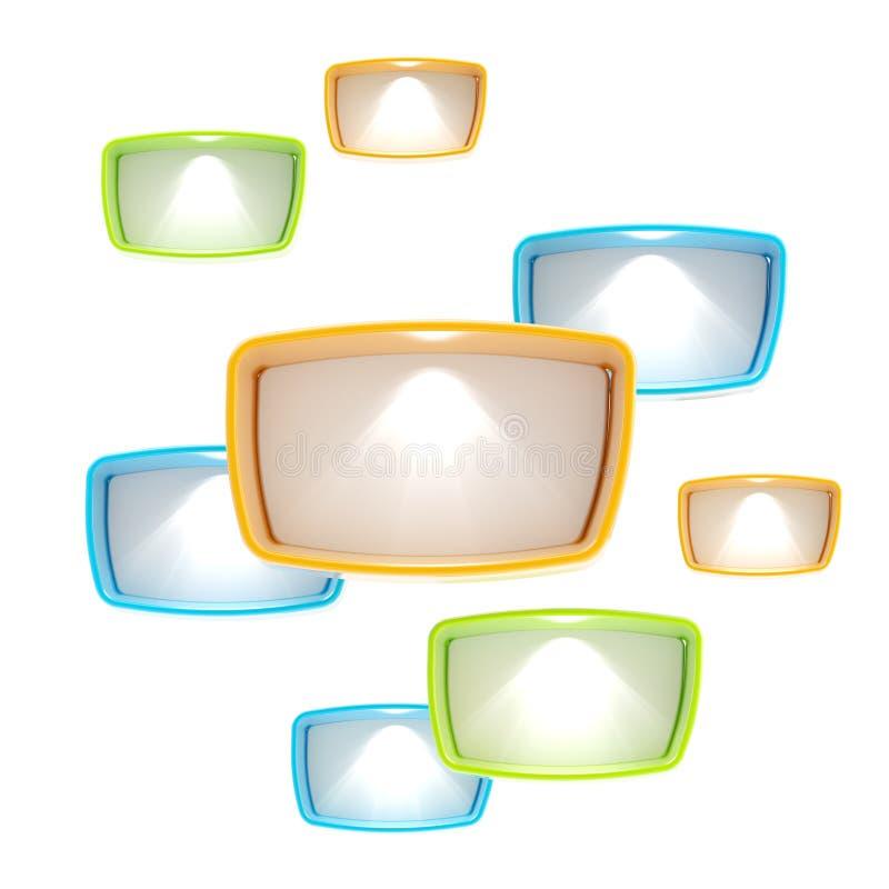 abstrakcjonistyczni tła copyspace lightboxes ilustracji