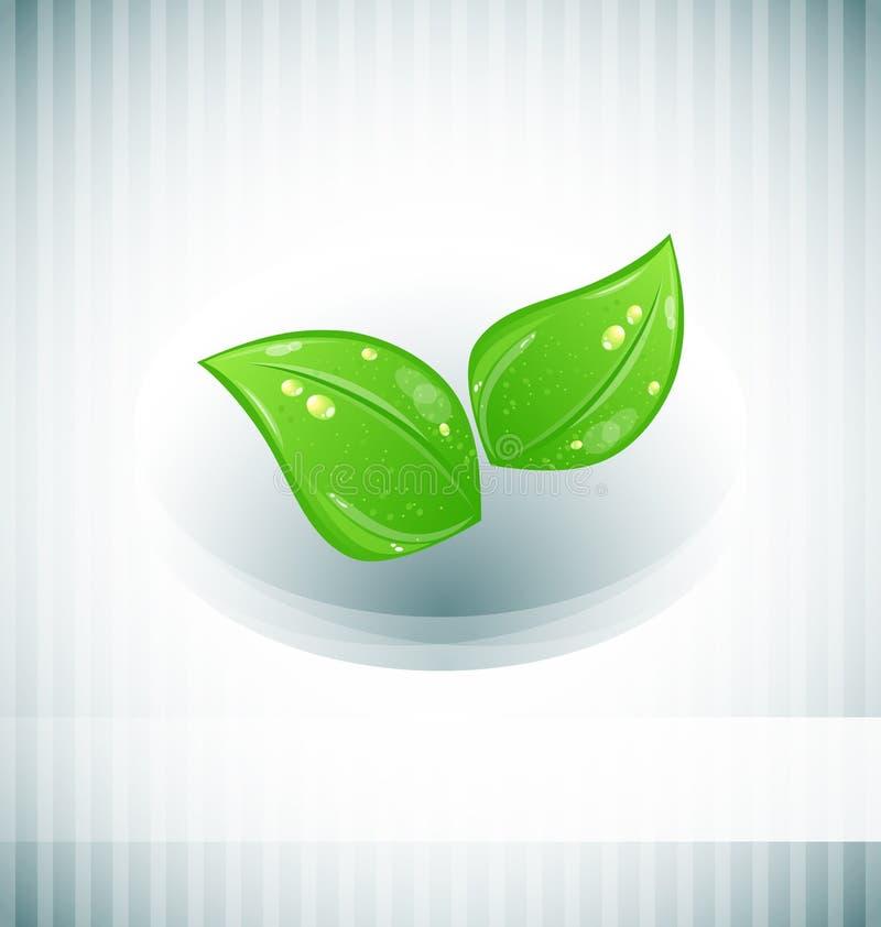abstrakcjonistyczni tła eco zieleni liść ilustracji
