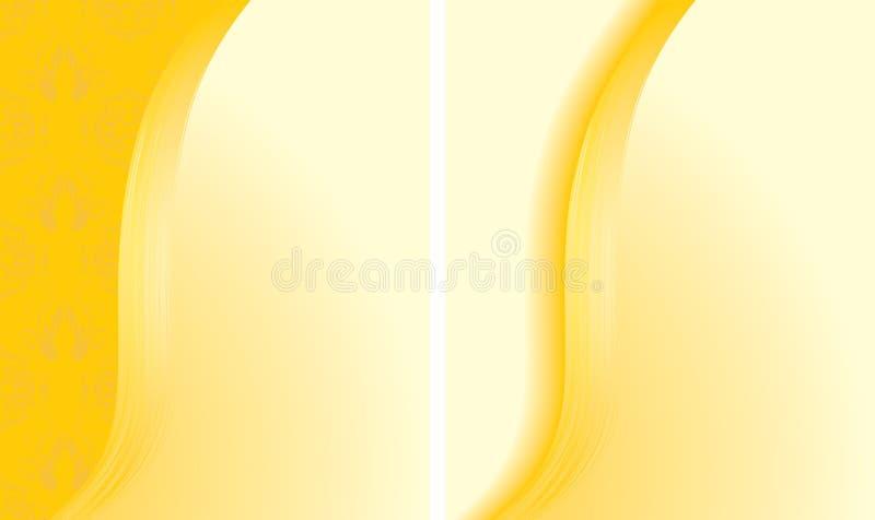 abstrakcjonistyczni tła gręplują kolor żółty dwa ilustracji