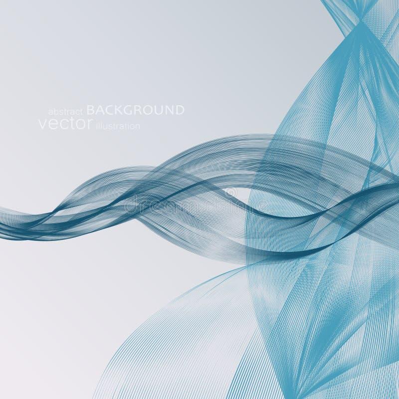 Abstrakcjonistyczni tła z kolorowymi falistymi liniami Elegancki falowy projekt Wektorowa technologia zdjęcie stock