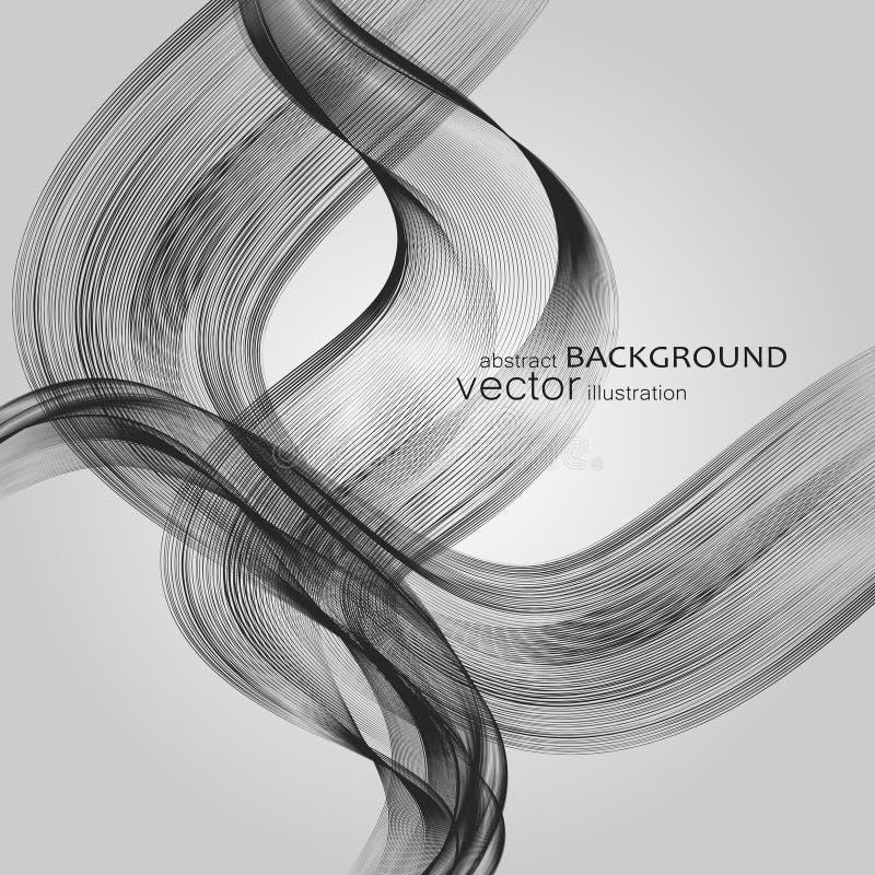 Abstrakcjonistyczni tła z kolorowymi falistymi liniami Elegancki falowy projekt Wektorowa technologia obrazy stock