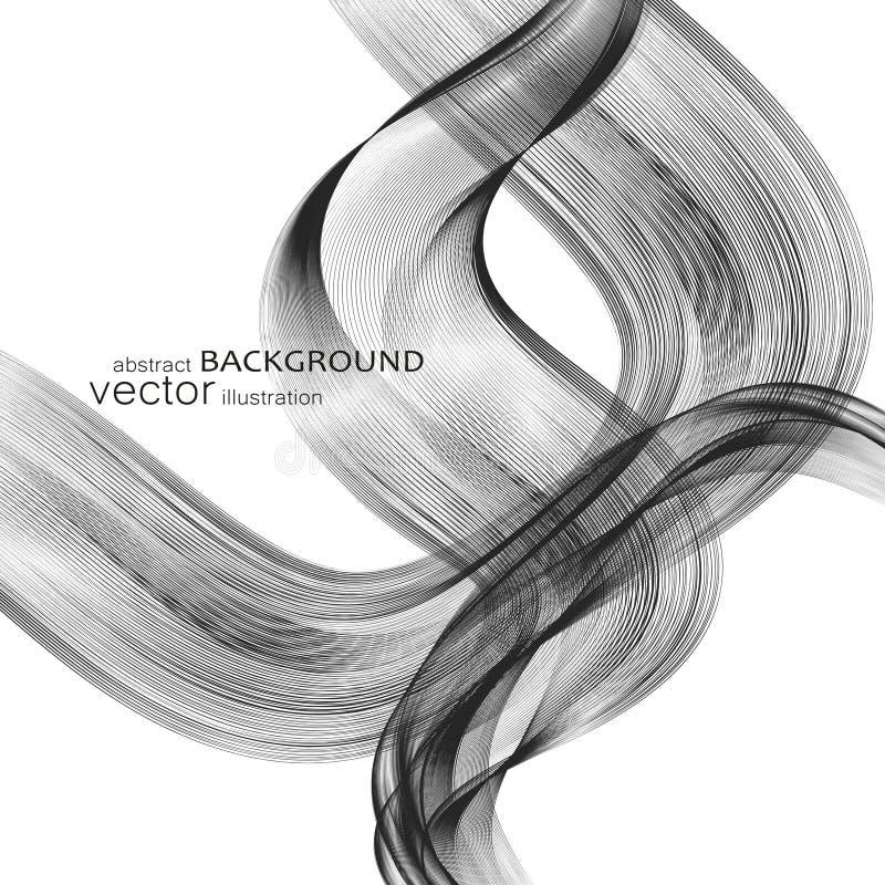 Abstrakcjonistyczni tła z kolorowymi falistymi liniami Elegancki falowy projekt Wektorowa technologia fotografia stock