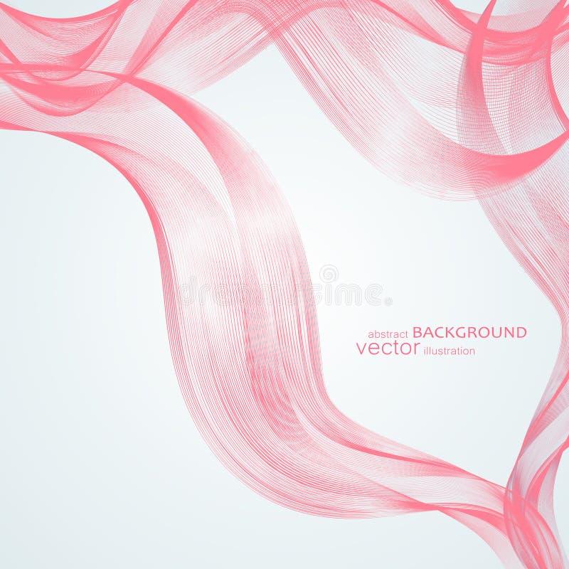 Abstrakcjonistyczni tła z kolorowymi falistymi liniami Elegancki falowy projekt Wektorowa technologia obraz stock