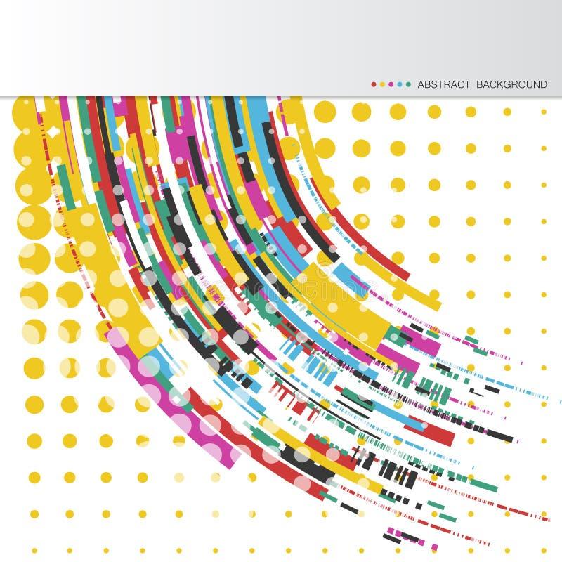 Abstrakcjonistyczni tła z kolorowymi falistymi liniami Elegancki falowy projekt Wektorowa technologia zdjęcia stock