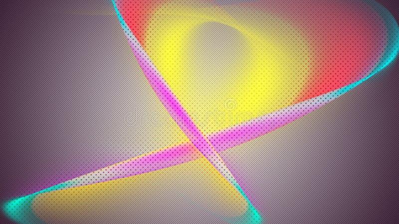 Abstrakcjonistyczni tła z RGB kolorami ilustracji