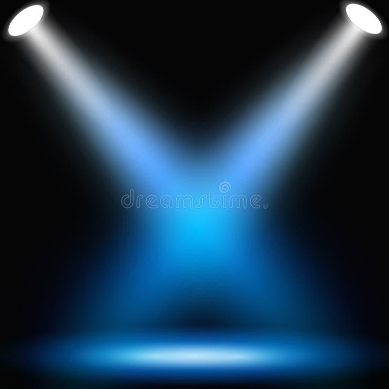 abstrakcjonistyczni tła zmroku światło reflektorów ilustracja wektor