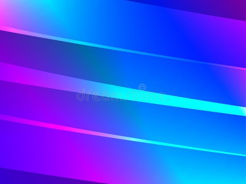 abstrakcjonistyczni tło światła Lampasy z gradientem błękit i menchie wektor ilustracji