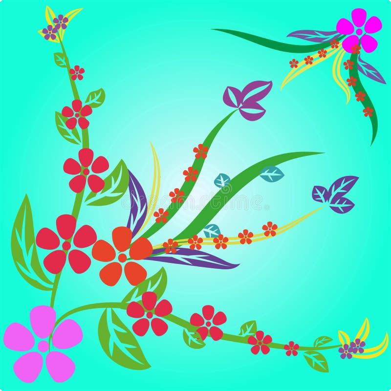 abstrakcjonistyczni tło kwiaty obraz royalty free