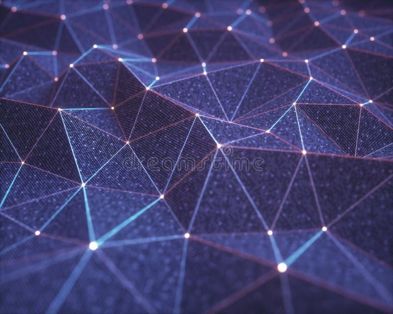 Abstrakcjonistyczni tło technologii związki royalty ilustracja