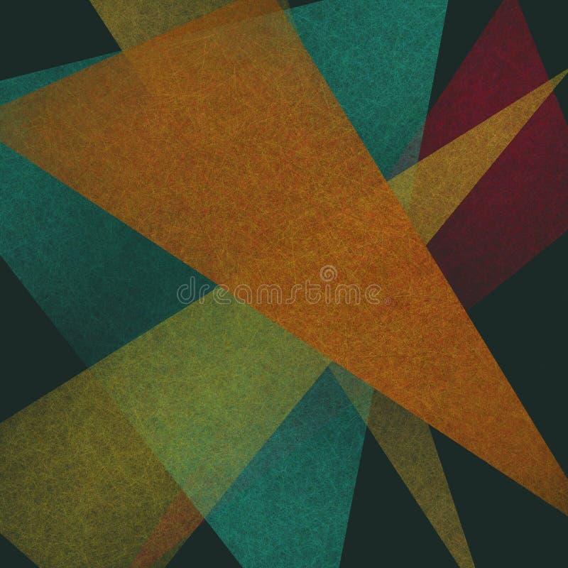 Abstrakcjonistyczni trójboka tła kąty ilustracja wektor