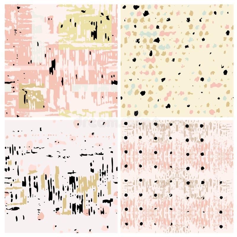 abstrakcjonistyczni ustalić tła ilustracja wektor