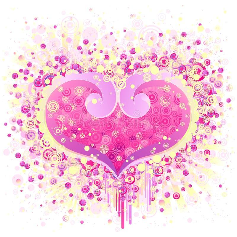 abstrakcjonistyczni valentines dni projektu ilustracji
