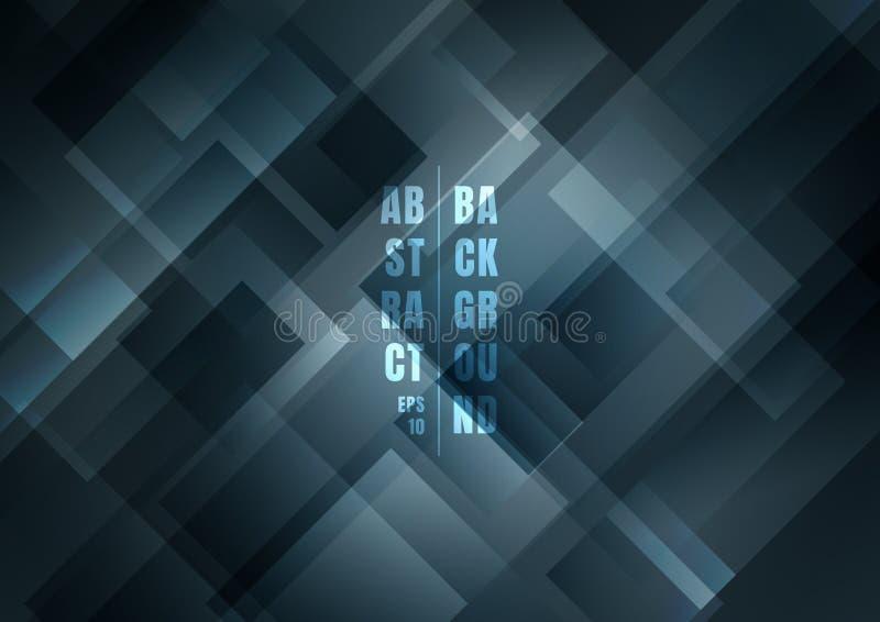 Abstrakcjonistyczni węgiel drzewny szarość koloru kwadraty kształtują geometrycznego pokrywa się tło royalty ilustracja