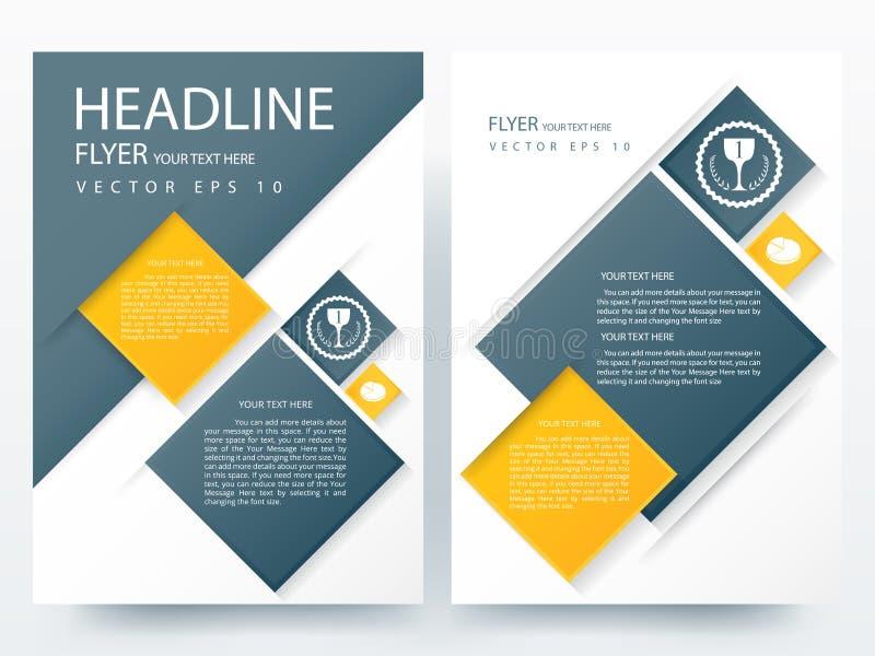 Abstrakcjonistyczni wektorowi nowożytni ulotki broszurki projekta szablony ilustracji