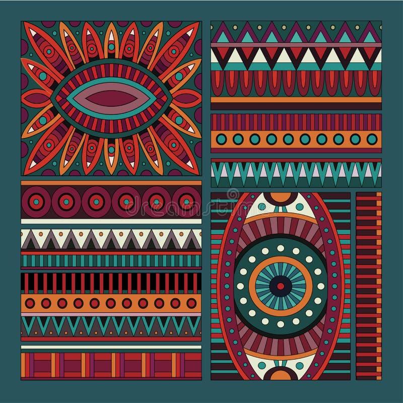 Abstrakcjonistyczni wektorowi plemienni etniczni projektów elementy