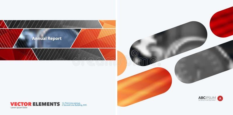 Abstrakcjonistyczni wektorowi projektów elementy dla graficznego układu Nowożytny busin ilustracji