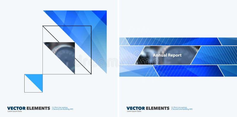 Abstrakcjonistyczni wektorowi projektów elementy dla graficznego układu Nowożytny busin ilustracja wektor