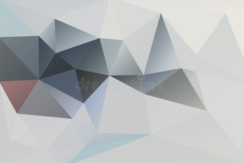 Abstrakcjonistyczni wektorowi tło trójboki ilustracja wektor