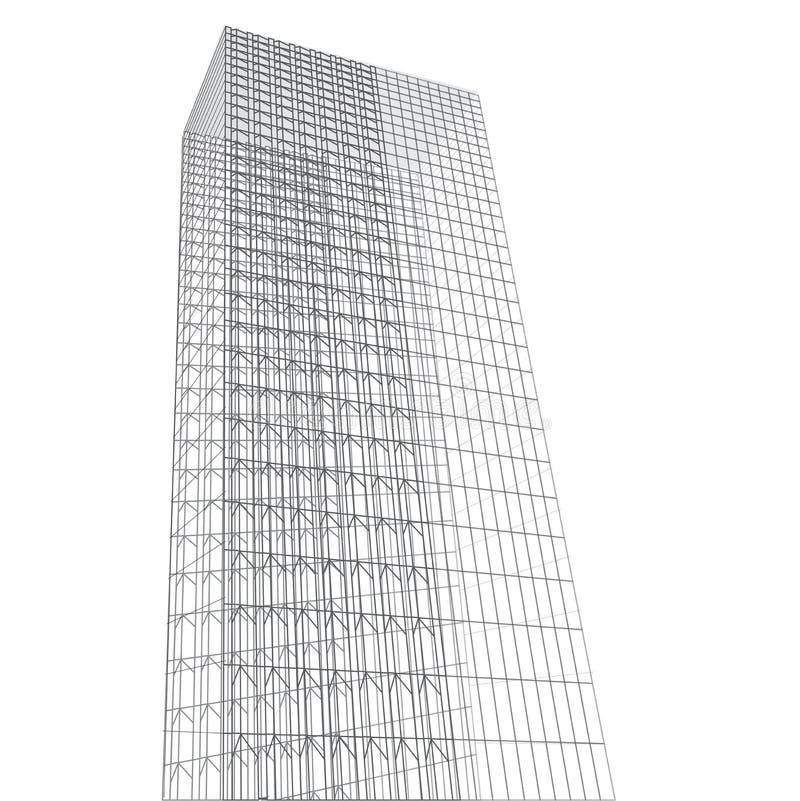 Abstrakcjonistyczni wysocy budynki royalty ilustracja