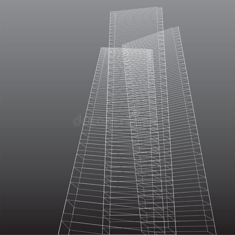 Abstrakcjonistyczni wysocy budynki ilustracji