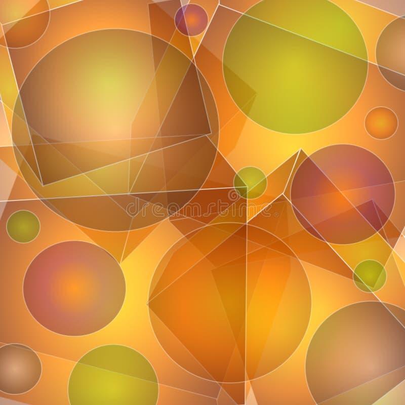 abstrakcjonistyczni wzorów nieprzezroczyści kształty ilustracja wektor