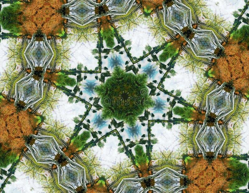 abstrakcjonistyczni wzory końcowe sześć gwiazd royalty ilustracja