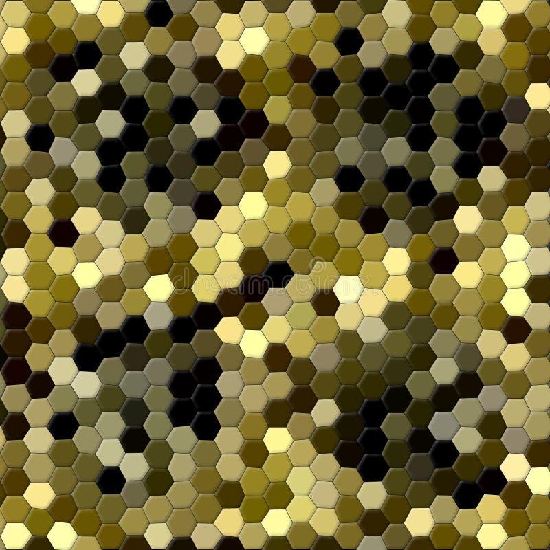 Abstrakcjonistyczni złoci i czarni sześciokąty w jaśnienie wzorze ilustracja wektor