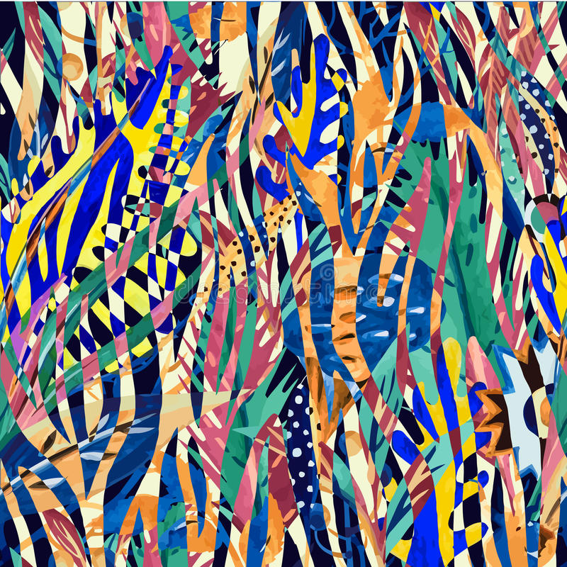 Abstrakcjonistyczni zebra lampasy ilustracji