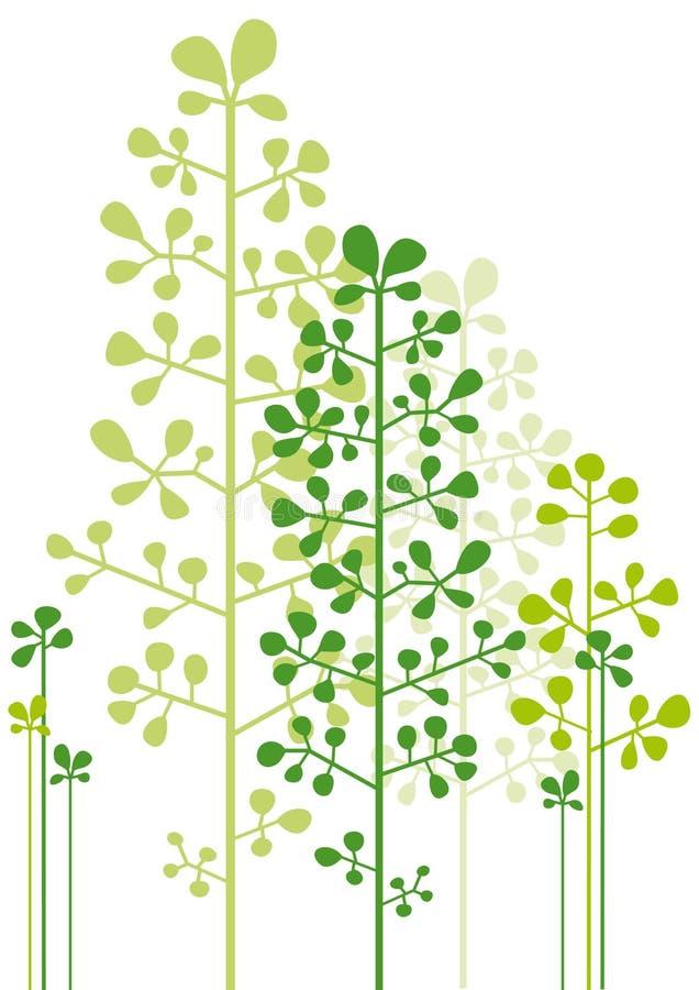 abstrakcjonistyczni zieleni drzewa ilustracja wektor