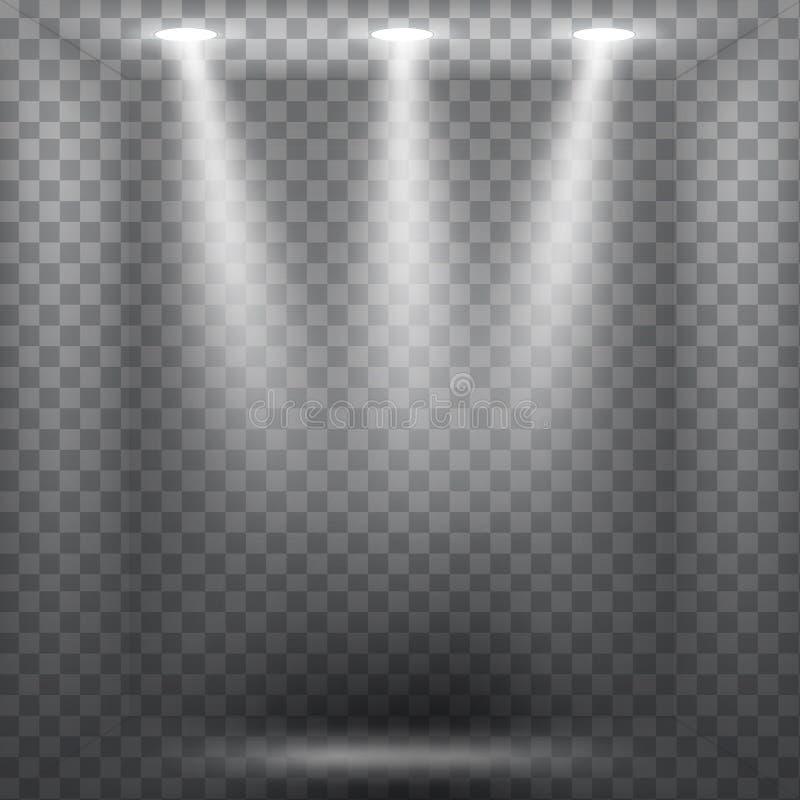 Abstrakcjonistyczny światło reflektorów skutek ilustracji