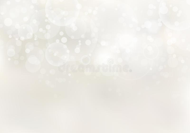 Abstrakcjonistyczny światło słoneczne zamazujący jasnobrązowy tło z bokeh świateł kopii i skutka przestrzenią ilustracja wektor