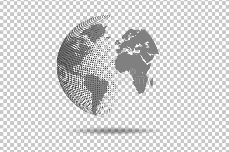 Abstrakcjonistyczny Światowej mapy Globalnej sieci związek okręgu punkt Vecto ilustracja wektor