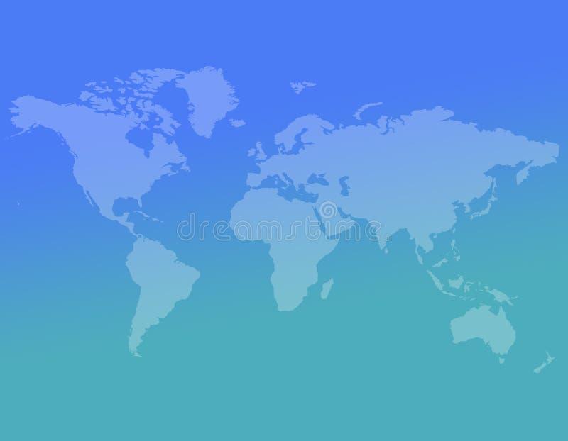 Abstrakcjonistyczny światowej mapy tło ilustracji