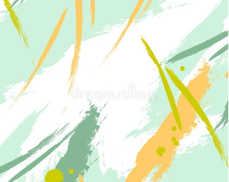 Abstrakcjonistyczny świeży fantazi pluśnięcie Grunge tekstury zielony wzór dla druku, tkanina, tapety, odziewa retro konsystencja royalty ilustracja