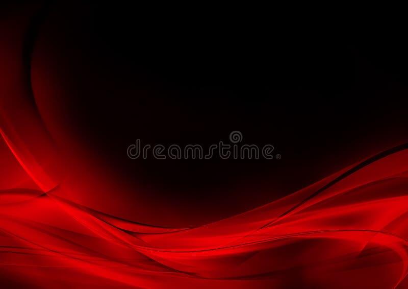 Abstrakcjonistyczny świecący czerwieni i czerni tło ilustracja wektor