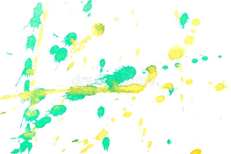 Abstrakcjonistyczny żółtej zieleni atramentu pluśnięcie ilustracji