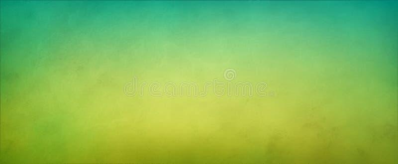 Abstrakcjonistyczny żółtej zieleni tło z miękki jaskrawy centrum jarzyć się z lekkimi kolorami i błękitnej zieleni granicą ilustracja wektor
