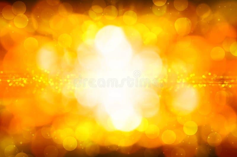 Download Abstrakcjonistyczny żółty Bokeh Tło Ilustracji - Ilustracja złożonej z bajka, złoto: 53780462