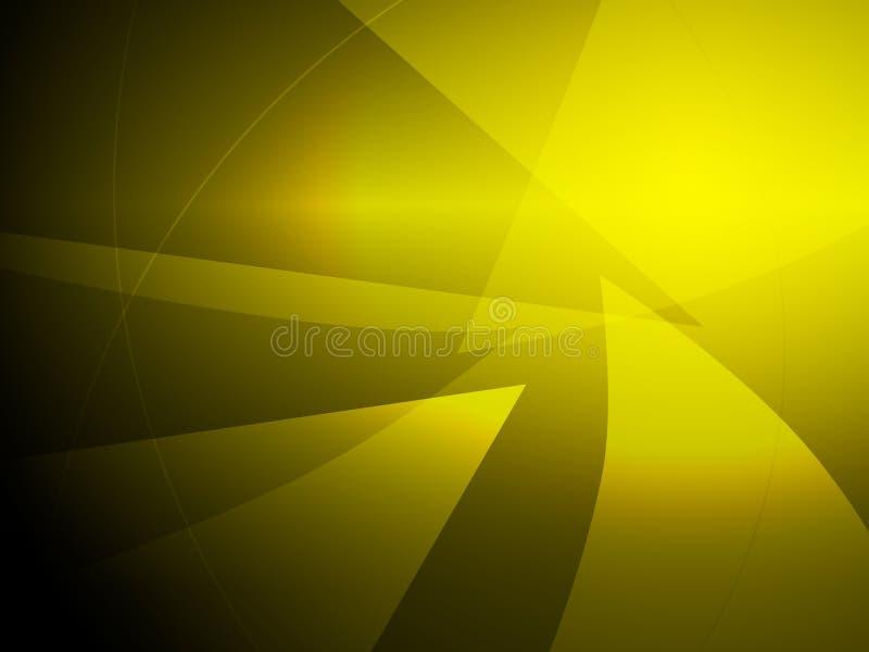 Abstrakcjonistyczny żółty geometryczny kształta projekta tło ilustracja wektor