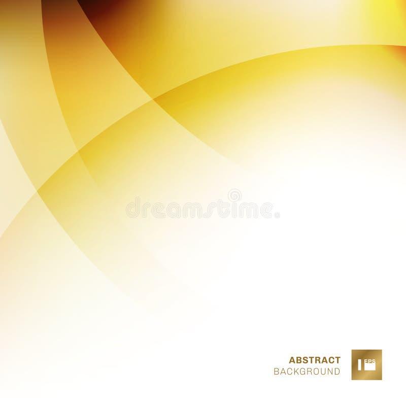 Abstrakcjonistyczny żółty gradientu kolor pokrywa się okręgu tło Kreatywnie szablonu projekta geometryczni złoci kolory Ty mo?esz royalty ilustracja