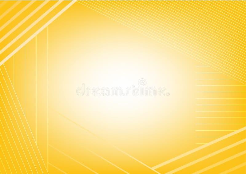 Abstrakcjonistyczny żółty lampasa tło zdjęcie royalty free