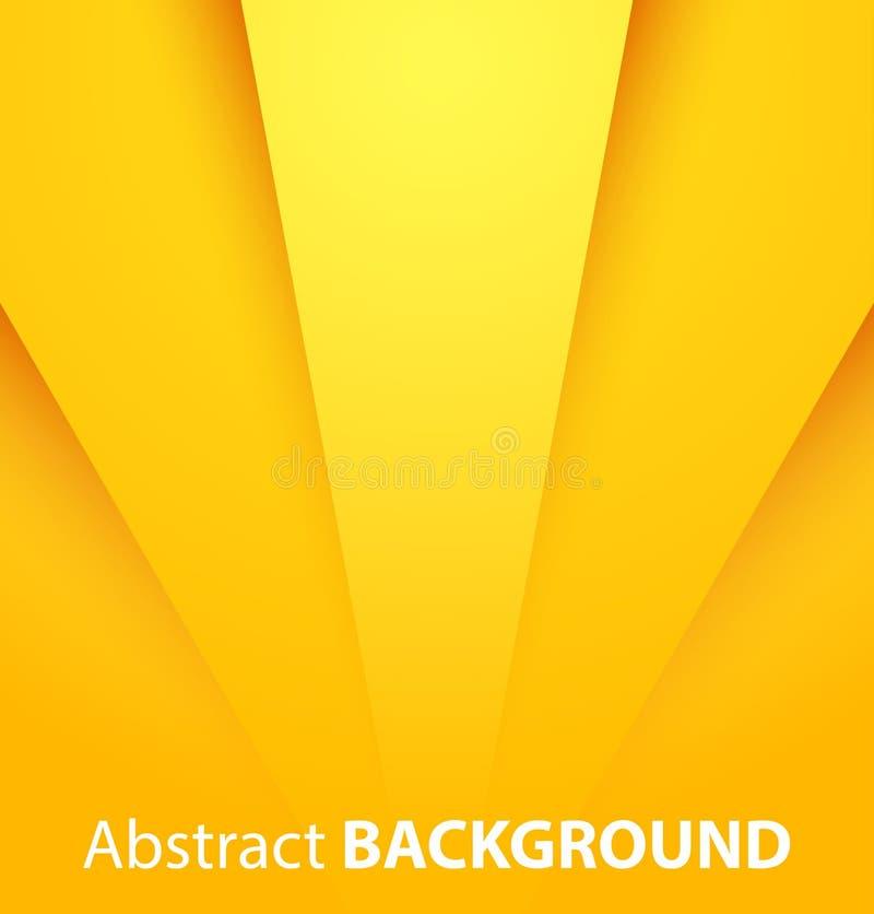 Abstrakcjonistyczny żółty tło royalty ilustracja